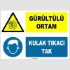 ZY1326 - Gürültülü Ortam, Kulak Tıkacı Tak
