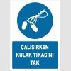 ZY1351 - Çalışırken kulak tıkacını tak