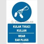 ZY1357 - Türkçe İngilizce, Kulak Tıkacı Kullan, Wear Ear Plugs