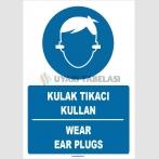 ZY1358 - Türkçe İngilizce, Kulak Tıkacı Kullan, Wear Ear Plugs