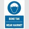 ZY1369 - Türkçe İngilizce, Bone Tak, Wear Hairnet