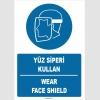 ZY1367 - Türkçe İngilizce, Yüz Siperi Kullan, Wear Face Shield