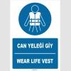 ZY1388 - Türkçe İngilizce, Can Yeleği Giy, Wear Life Vest