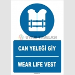 ZY1389 - Türkçe İngilizce, Can Yeleği Giy, Wear Life Vest