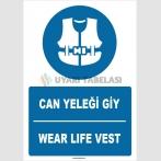 ZY1391 - Türkçe İngilizce, Can Yeleği Giy, Wear Life Vest