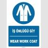 ZY1392 - Türkçe İngilizce, İş Önlüğü Giy, Wear Work Coat
