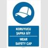 ZY1396 - Türkçe İngilizce, Koruyucu Şapka Giy, Wear Safety Cap
