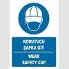 ZY1397 - Türkçe İngilizce, Koruyucu Şapka Giy, Wear Safety Cap