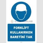 ZY1405 - Forklift kullanırken baretini tak