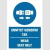 ZY1384 - Türkçe İngilizce, Emniyet Kemerini Tak, Wear Seat Belt