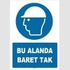 ZY1422 - ISO 7010 Bu Alanda Baret Tak