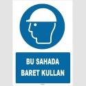 ZY1426 - ISO 7010 Bu Sahada Baret Kullan