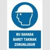 ZY1416 - ISO 7010 Bu Sahada Baret Takmak Zorunludur