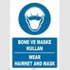 ZY1478 - Türkçe İngilizce Bone ve Maske Kullan, Wear Hairnet and Mask