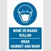 ZY1487 - Türkçe İngilizce Bone ve Maske Kullan, Wear Hairnet and Mask