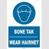 ZY1361 - Türkçe İngilizce, Bone Tak, Wear Hairnet