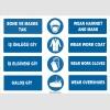 ZY1492 - Türkçe İngilizce Bone, Maske, İş Önlüğü, İş Eldiveni, Galoş, Hairnet, Mask, Gloves, Coat, Overshoes