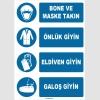 ZY1495 - Bone ve Maske Takın, Önlük Giyin, Eldiven Giyin, Galoş Giyin