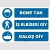 ZY1499 - Bone Tak, İş Elbisesi Giy, Galoş Giy