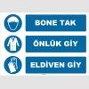 ZY1501 - Bone Tak, Önlük Giy, Eldiven Giy