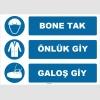 ZY1504 - Bone Tak, Önlük Giy, Galoş Giy