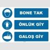 ZY1505 - Bone Tak, Önlük Giy, Galoş Giy