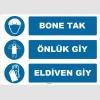ZY1500 - Bone Tak, Önlük Giy, Eldiven Giy