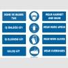 ZY1493 - Türkçe İngilizce Bone, Maske, İş Önlüğü, İş Eldiveni, Galoş, Hairnet, Mask, Gloves, Apron, Overshoes