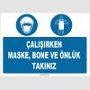 ZY1511 - Çalışırken Maske, Bone ve Önlük Takınız