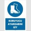 ZY1522 - ISO 7010 Koruyucu ayakkabını giy