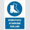 ZY1526 - ISO 7010 Koruyucu ayakkabı kullan