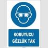 ZY1771 - ISO 7010 Koruyucu Gözlük Tak