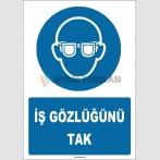 ZY1781 - ISO 7010 İş Gözlüğünü Tak
