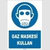 ZY1796 - ISO 7010 Gaz Maskesi Kullan