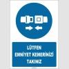 ZY1814 - ISO 7010 Lütfen Emniyet Kemerinizi Takınız
