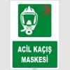 ZY1820 - ISO 7010 Acil Kaçış Maskesi