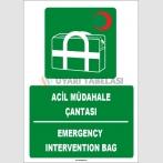 ZY1827 - ISO 7010 Türkçe İngilizce Acil Müdahale Çantası, Emergency Intervention Bag