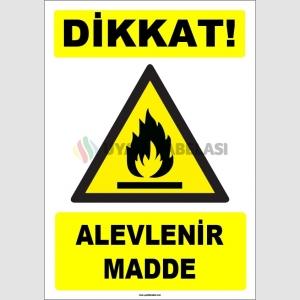 ZY1841 - ISO 7010 Dikkat Alevlenir Madde