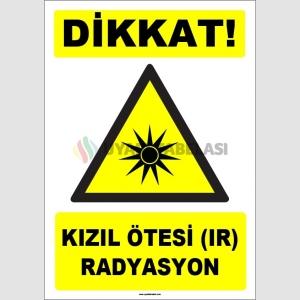 ZY1858 - ISO 7010 Dikkat Kızıl Ötesi (IR) Radyasyon