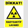 ZY1871 - ISO 7010 Dikkat Radyoaktif Lavabo