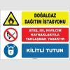 ZY1881 - Doğalgaz dağıtım istasyonu, ateş, ısı, kıvılcım kaynaklarıyla yaklaşmak yasaktır, kilitli tutun