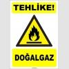 ZY1893 - ISO 7010 Tehlike! Doğalgaz
