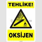 ZY1909 - ISO 7010 Tehlike! Oksijen