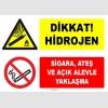 ZY1907 - ISO 7010 Dikkat Hidrojen, Sigara, Ateş ve Açık Alevle Yaklaşma