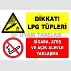 ZY1902 - ISO 7010 Dikkat LPG Tüpleri, Sigara ve Açık Alevle Yaklaşmayın