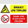 ZY1902 - ISO 7010 Dikkat LPG Tüpleri, Sigara, Ateş ve Açık Alevle Yaklaşma