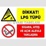ZY1901 - ISO 7010 Dikkat LPG Tüpü, Sigara ve Açık Alevle Yaklaşmayın