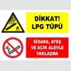 ZY1901 - ISO 7010 Dikkat LPG Tüpü, Sigara, Ateş ve Açık Alevle Yaklaşma