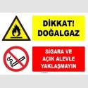 ZY1899 - ISO 7010 Dikkat Doğalgaz, Sigara ve Açık Alevle Yaklaşmayın