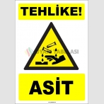 ZY1914 - ISO 7010 Tehlike! Asit